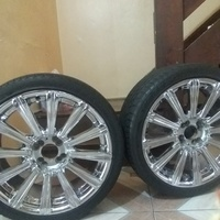 Easy fit 18inch chrome rims and tyres