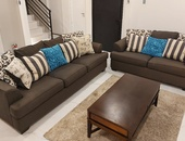 2pc charcoal Grey Sofa set