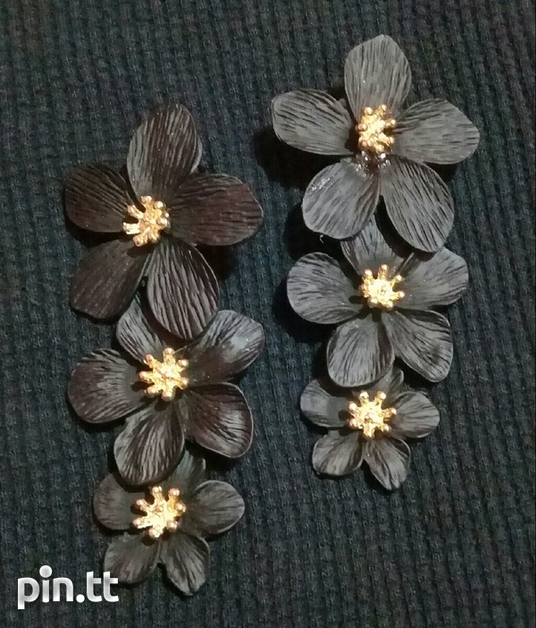 3 tier flower earring-2