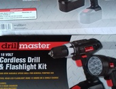Cordless drill and flashlight kit