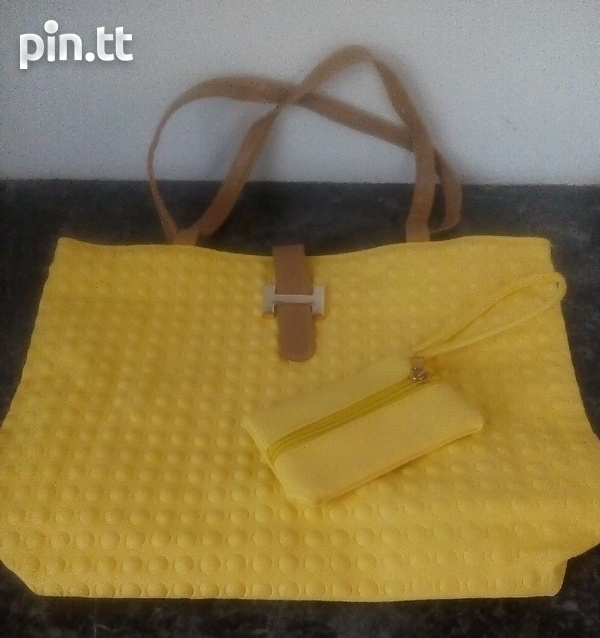 Textured Handle Bags with carrying purse-1