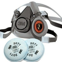 3M Half Face Respirator complete with P95 2071 Filters