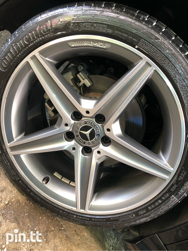 Mercedes 4 Run Flat Continental Rims and Tyres-2