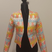 Neon Patterned Dress Jacket