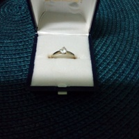 Genuine Gold Ring With Cubic Zirconia Stone