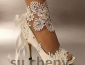 Shoe ivory in color