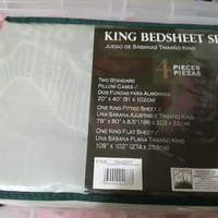 2 King size bed sheet sets
