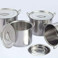 4 PC Stainless Steel Pot Set