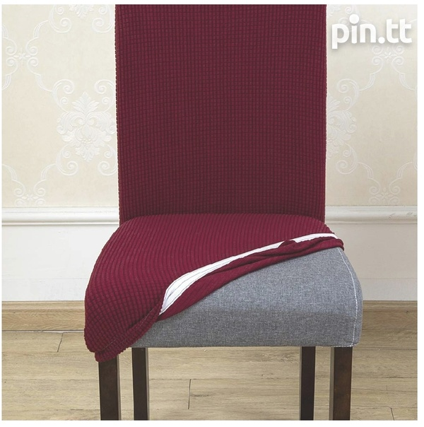 6pc Burgundy Dining Set Chair covers-4