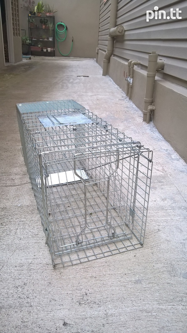 Animal Trap Large Rodent Steel Cage-1