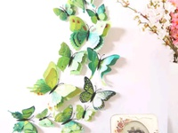 12pcs American Design Wall Decor Sticker And Magnectic Butterflies