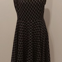 Black and White patterned Sleeveless Dress