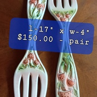 Ceramic wall hanging forks