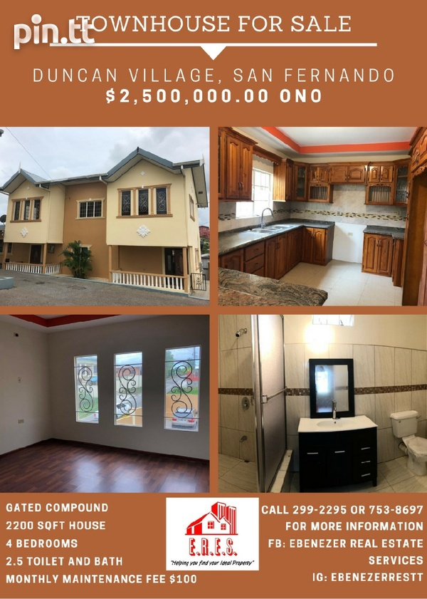Secure and Peaceful 3 Bedroom Townhouse In San Fernando-1