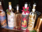 Custom themed decoupage bottle for every event