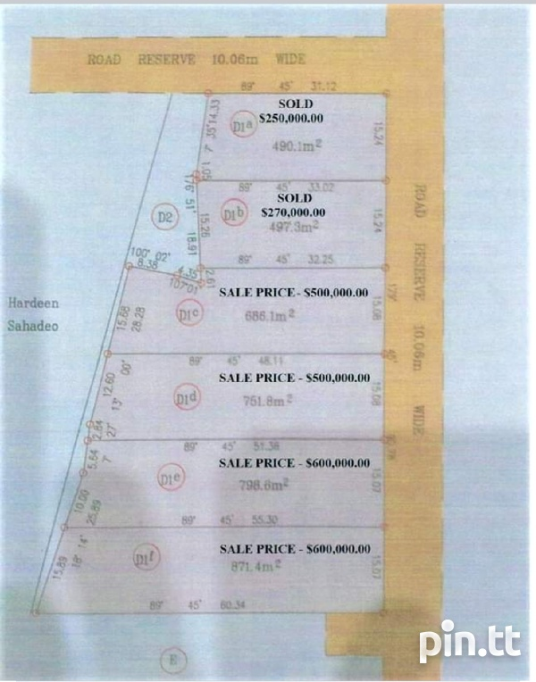 9380 SQ FT PLOT OF LAND CUNUPIA ,CASH BUY ONLY-1
