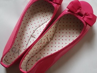 New flat kids pink bow shoes x3 available
