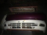 Foreign used Nissan B14 front and rear bumpers