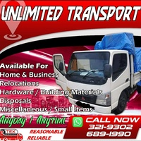TRANSPORT 1.5 AND 3 TON 24/7 SERVICE