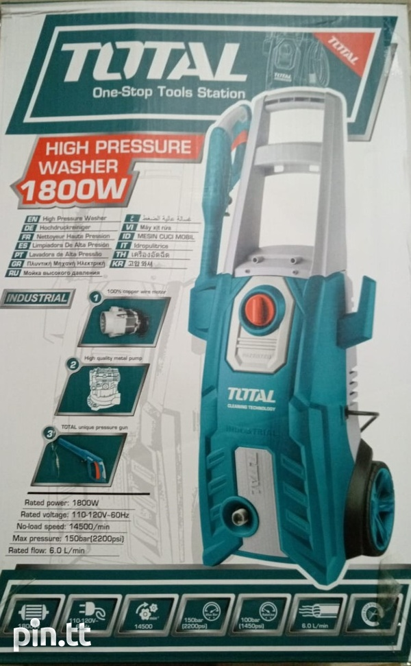 Total 1800W 2200PSI Electric Pressure washer-1