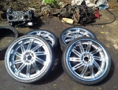 20 inch chrome with extra tyres