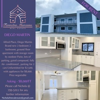 DIEGO MARTIN APT WITH 2 BEDROOMS