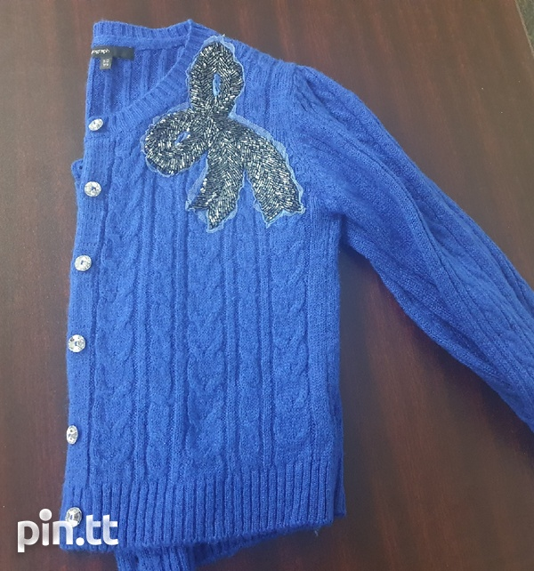 Girl Blue Sweater. Size 12yrs