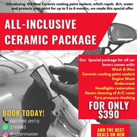 All inclusive ceramic package