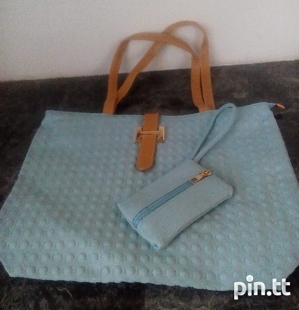 Textured Handle Bags with carrying purse-2