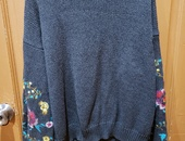 Nordstrom Floral Sleeve Sweater