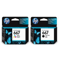 HP 667 Ink Black and Colour Combo