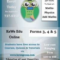 Form 3, 4 & 5 Online Lessons in Maths Physics & Add Maths