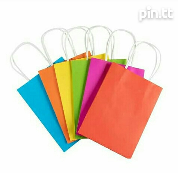 24 Assorted Coloured Paper Gift Bags-1