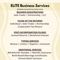 Business Registration | Filing of Tax Returns | Typing | Virtual Admin Services