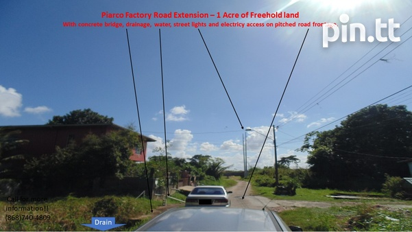 Potential for Condos/Townhouses/Warehouse- Piarco 1 Acre Freehold land-3