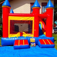 Bounce and slide bounce house