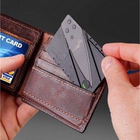 Folding locking credit card accessory
