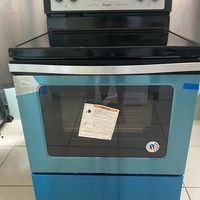 Whirlpool 30 inch stainless steel electric range. Ceramic cooktop