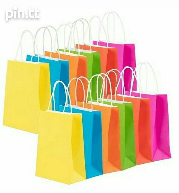 24 Assorted Coloured Paper Gift Bags-3
