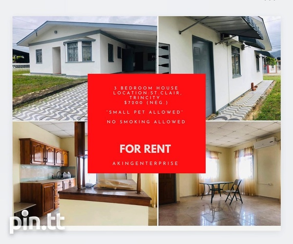 St. Clair, Trincity house with 3 bedrooms-1