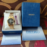 Original Seiko 5 Automatic All Gold Watch Read Details Below Carefully Please