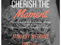Wedding photography January special