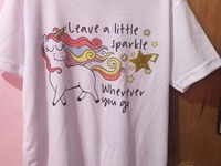 Unicorn t-shirt - Leave a little sparkle