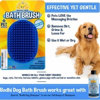 Dog Grooming Pet Shampoo Brush Soothing Massage Bristles Dogs Cats