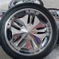 22 inch 6 hole Rims and Tyres