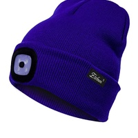New beanie hats with removable LED rechargeable light