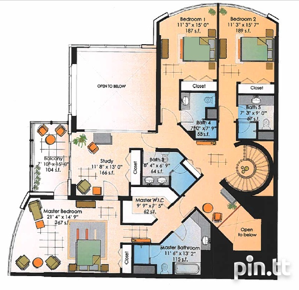 One Woodbrook Place Penthouse with 5 Bedrooms-2