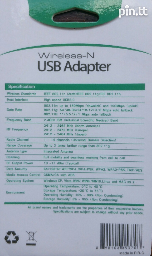 WIFI adapter USB dongle 150M with antenna, Brand New In Sealed Package-2