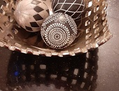 Netted bowl with dragon eggs