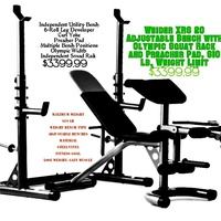 Weider xrs 20 bench and squat rack combo